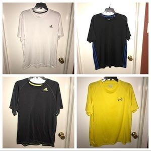 Adidas & Under Armour Gift Set (set of 4) t-shirts